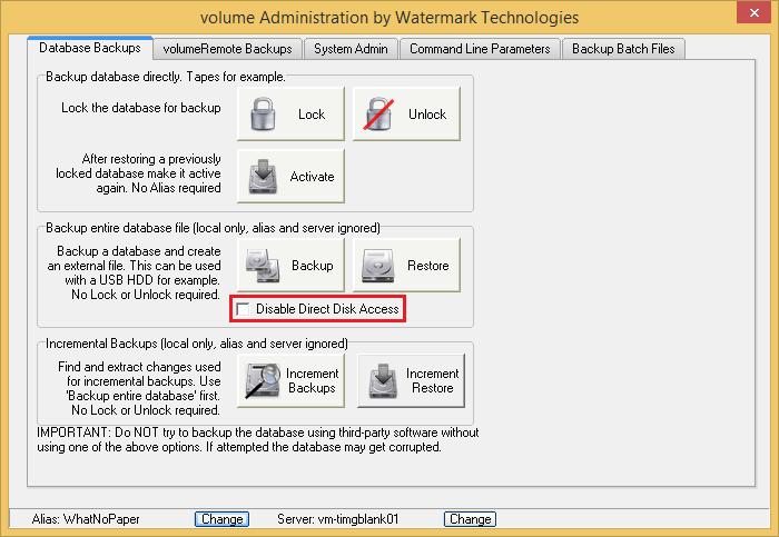 Backup Procedure (Firebird) | Watermark Technologies Ltd