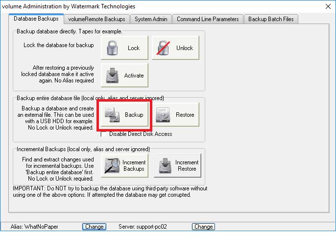 Backup data manually watermark technologies ltd for Consul database